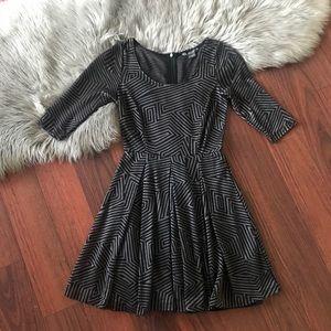 Armani Exchange A-Line Stretch Knit Dress